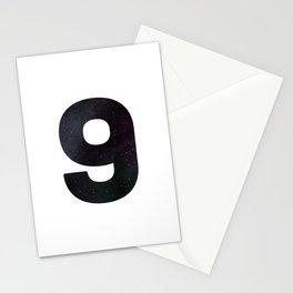 Numbrer 9 Stationery Cards
