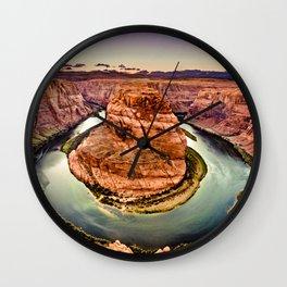 Horseshoe Bend Grand Canyon Arizona Wall Clock