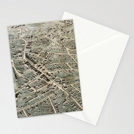 Vintage Pictorial Map of Northampton MA (1875) Stationery Cards