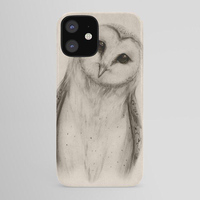 Barn Owl Sketch iPhone Case