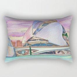 Valencia. Architecture. Ciudad de las Artes y las Ciencias. City of Arts and Sciences. Rectangular Pillow