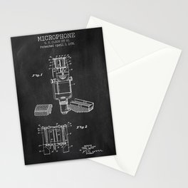 Microphone chalkboard patent Stationery Cards