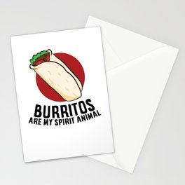 Burritos Are My Spirit Animals Funny Burrito Mexican Burrito Stationery Cards