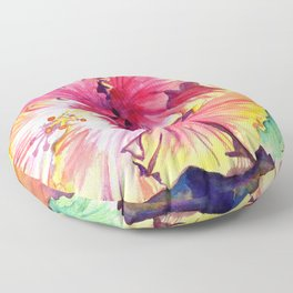 Tropical Hibiscus 13 Floor Pillow