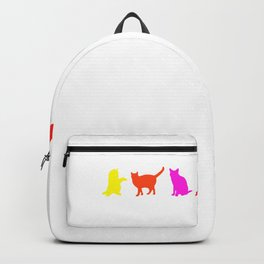 Gay Pride Cat Lover Flag Homosexual Backpack