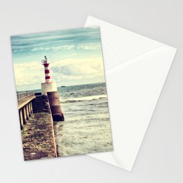 Amble Pier Lighthouse Stationery Cards