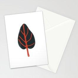 Grey leaf Stationery Cards