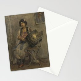 Isaac Israels - The Lady Drummer Stationery Cards