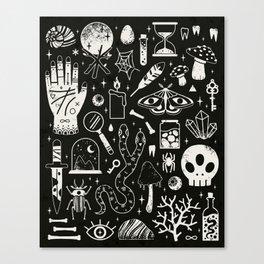 Curiosities: Bone Black Canvas Print