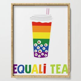 Equali-Tea Boba Bubble Tea LGBT Rainbow Pride Serving Tray