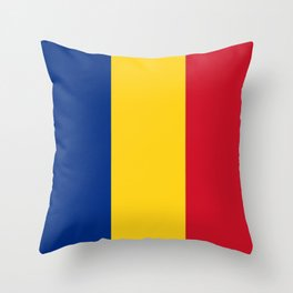 Flag of romania 3 -romania,romanian,balkan,bucharest,danube,romani,romana,bucuresti Throw Pillow