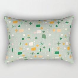 Atomic Pattern Green  #midcenturymodern Rectangular Pillow