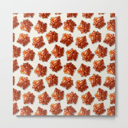 Canadian Maple Syrup Candy Pattern Metal Print