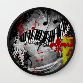 JAZZ PIANO KEYBOARD MUSIC Wall Clock