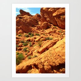 Valley of Fire No 2 Art Print