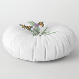 Monarch Butterfly Life Cycle Floor Pillow