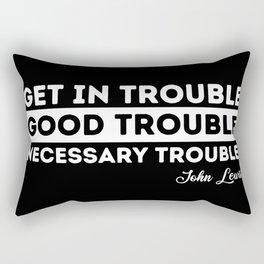 good trouble john lewis quote Rectangular Pillow