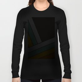 Retro 70s Stripes  -  Abstract Geometric Design Langarmshirt