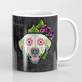 Labrador Retriever - Yellow Lab - Day of the Dead Sugar Skull Dog Coffee Mug