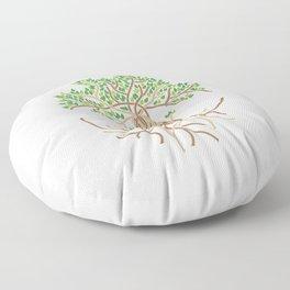 Rope Tree of Life. Rope Dojo 2017 white background Floor Pillow