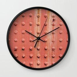 Riveted metal wall surface Wall Clock