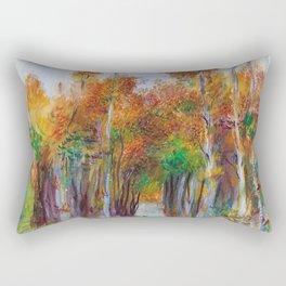 Pierre-Auguste Renoir - Grove Of Trees - Digital Remastered Edition Rectangular Pillow