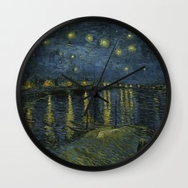 Vincent van Gogh - Starry Night on the Rhone Wall Clock