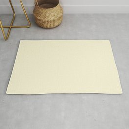 Solid Light Yellow Blonde Color Rug