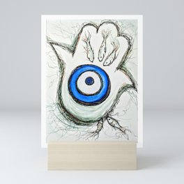 "Hamsa ""Safely Tethered"" Mini Art Print"