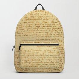"""Leonardo da Vinci """"Notes on bird flight"""" Backpack"""