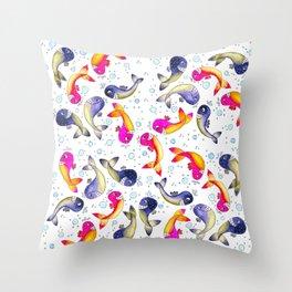Whale Paisley Throw Pillow