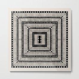 Black & White Symmetrical Pattern #3 Metal Print