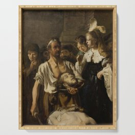 Rembrandt - Beheading of John the Baptist Serving Tray