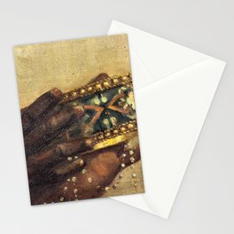 African American Masterpiece 'The Last Nubian King' by W. Wahaf Stationery Cards