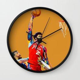 Joel Embiid / Philadelphia-Phila-Philly 76 ers Basketball Player Dunking on LeBron the Laker Wall Clock