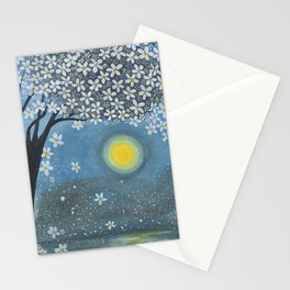 Floral Summer Night Stationery Cards
