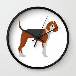 English Foxhound Wall Clock