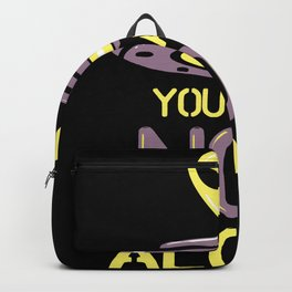 You Are Not Alone Alien UFO Design Backpack