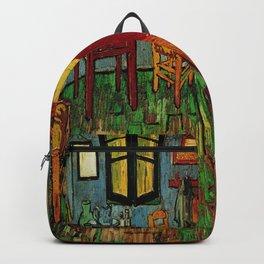 Van Gogh, bedroom in arles– Van Gogh,Vincent Van Gogh,impressionist,post-impressionism,brushwork,pai Backpack