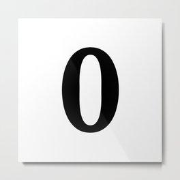 0 (BLACK & WHITE NUMBERS) Metal Print