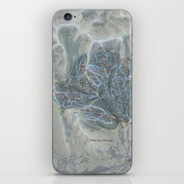 Park City Resort Trail Map iPhone Skin