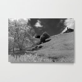 France Towpath Metal Print