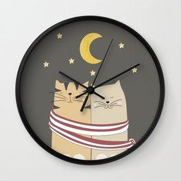 Moon Cats Wall Clock