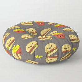 Fastfood pattern Floor Pillow