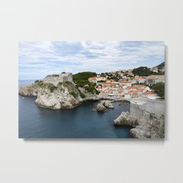 Fortress above a bay Metal Print