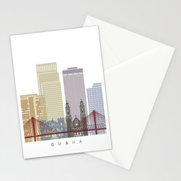 Omaha V2 skyline poster Stationery Cards