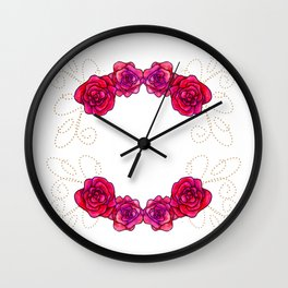 Roses are Pink - Joy 2 Wall Clock