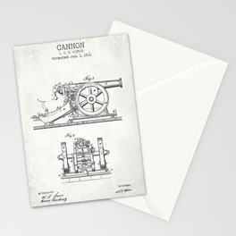 Cannon old patent Stationery Cards