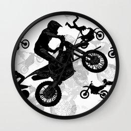 High Flying Stuntmen - Motocross Riders Wall Clock