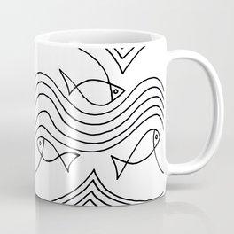 Fish and Waves Coffee Mug
